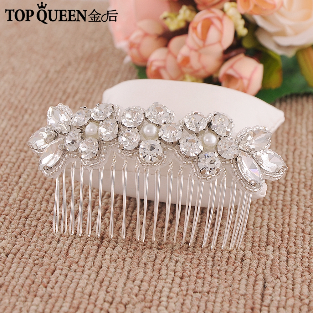 TOPQUEEN H330 Hot Sale Wedding Bridal Hair Combs Hair Jewelry Crystal And Rhinestone Bridal Headpiece Hair Accessories For Women