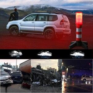 Image 5 - 2pc LED Emergency Roadside Flares Detachable Stand Beacon Safety Strobe Light Warning Signal Alert SOS Lamps Magnetic Flashlight