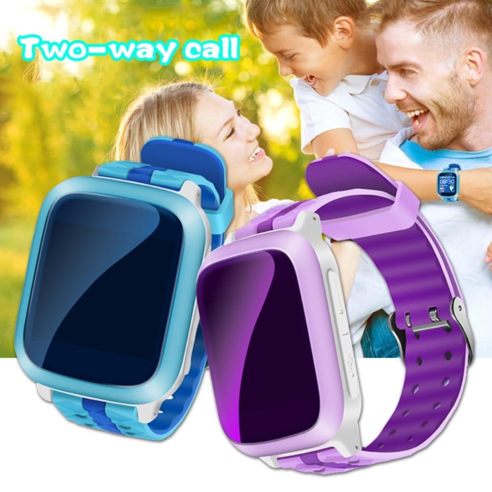 DS18 Smart Watch Kids Safe Wristwatch GPS Finder Locator Tracker SIM SOS Anti Lost Smart Watches