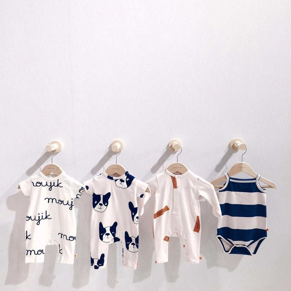Tiny Cottons Baby Romper New Born Baby Gift Clothes Infant Summer Rompers Brand BoBo Choses Kids Clothes Dog Pattern Jumpsuits db5033 dave bella summer new born baby unisex rompers cotton infant romper kids lovely 1 pc children romper