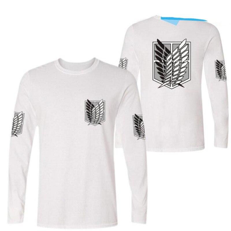 82953558045c1 Ataque anime japonês em titan manga longa camiseta homens tops tees  shingeki não kyojin engraçado camiseta chemise homme marca clothing