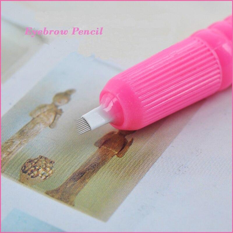 10 adet PEMBE DISPOSABLE Microblading Kalem blade ile CF / U İğne 9 - Dövme ve Vücut Sanatı - Fotoğraf 4