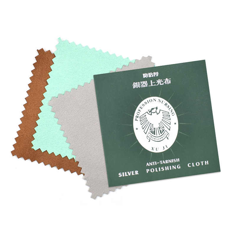 50/100 pcs Cleaning Cloth Polishing Anti-fouling Cloth for Silver Gold Jewelry Random Colorremove scratches and tarnish RT99