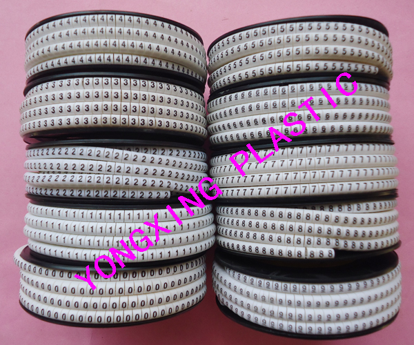 ФОТО 10roll(10000pcs)/lot EC-0 1.5mm2 cable marker nubmer 0-9