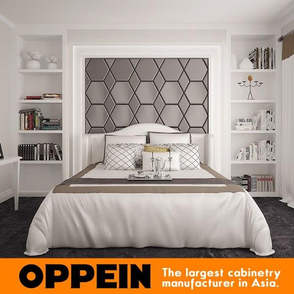 US $388.0  Nuovo Lusso Moderno Camera Da Letto Bianco ultimo letto  matrimoniale disegni-in Set per camera da letto da Mobili su AliExpress