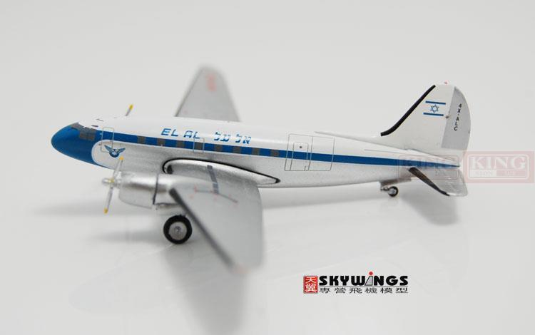 Aeroclassics Israel aviation 4X-ALC 1:400 C-46 commercial jetliners plane model hobby