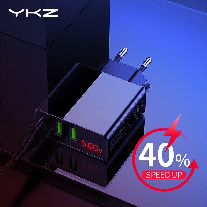 Сетевое зарядное устройство с 3 Usb-портами и светодиодным дисплеем