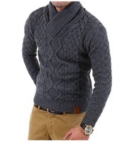 ZOGAA Brand Mens Cardigan Sweater Solid Color Thick Warm Turtleneck Men Sweaters Long Sleeve Casual Pullover Men Clothing 2019