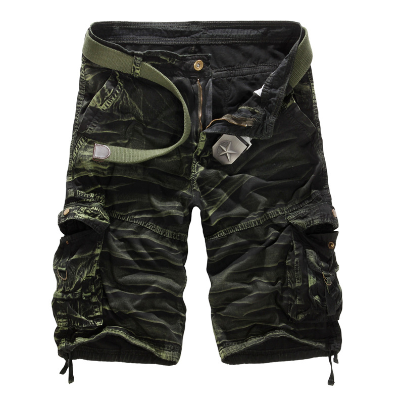 Cargo Shorts Men Cool Camouflage Summer Cotton Casual Men Short Pants No Belt Brand Clothing Comfortable Camo Men Cargo Shorts