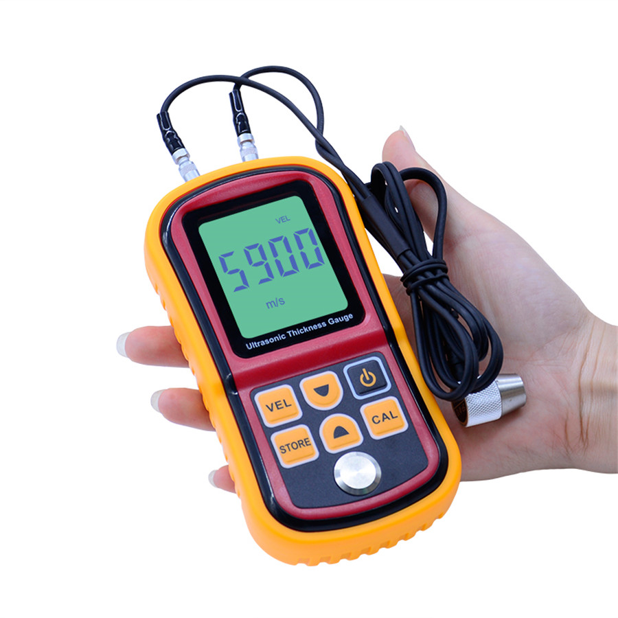 GM100 Digital LCD Display Ultrasonic Thickness Gauge Metal Tester Measuring Instruments 1.2 to 200MM Sound Velocity Meter