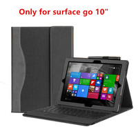 New Design Case For Microsoft Surface Go 10 inch Premium PU Tablet Leather Cover High Quality Laptop Notebook Keyboard Skin Gift