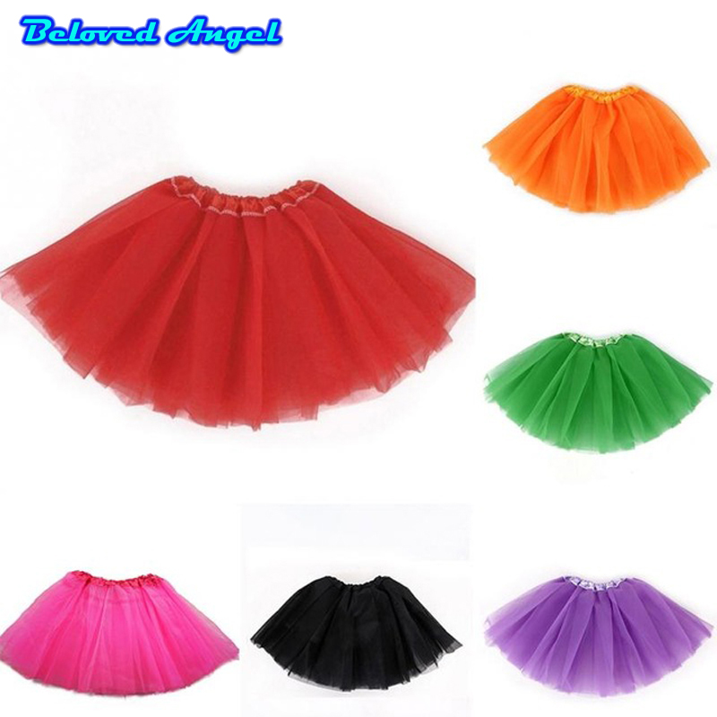 2019 Kids Girl Princess Tutu Skirts Dance Ballerina Pettiskirt Toddler Fluffy Ballet Skirt For Girls Party Tulle Miniskirt 0-8T