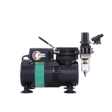 OPHIR Air Compressor for Hobby Model Two Fans Mini Air compressor Body Paint Temporary Tattoo Nail Art Food Coloring AC049