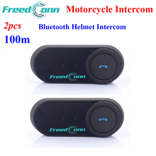Freedconn 2PCS TCOM-OS 100M Intercom Distance Motorcycle Helmet Intercom Wireless Bluetooth Intercom Interphone Moto Headset