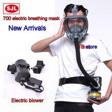 SJL 700 מלא מסכה + חשמלי מפוח נשימה מסכת מסכה/מפוח/נשימה/מטען/מסנן/חגורת בשילוב גז מסכה