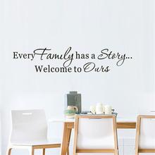 Każda rodzina ma historię naklejka ścienna do salonu winylowa naklejka ścienna wymienna tapeta samoprzylepna nowoczesna dekoracja domu tanie tanio DCTOP Jednoczęściowy pakiet Family Story Art Decal For Living Room Home Decor Vinyl Wall Sticker Naklejka ścienna samolot