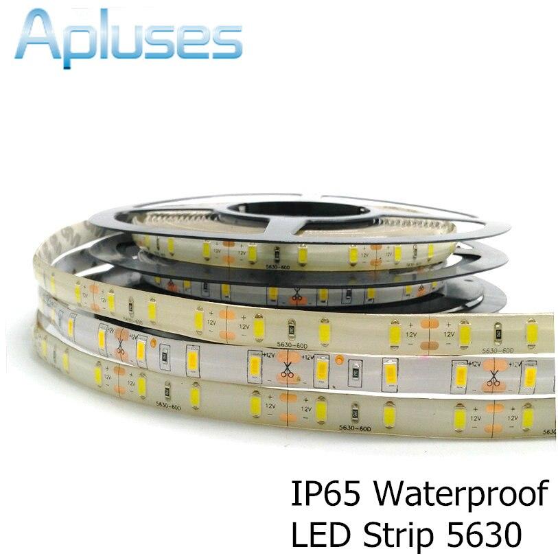 5m/Lot 5630 LED Strip 12V Flexible Decoration Lighting 300LED Waterproof LED Tape White/Warm White/Blue/Green/Red