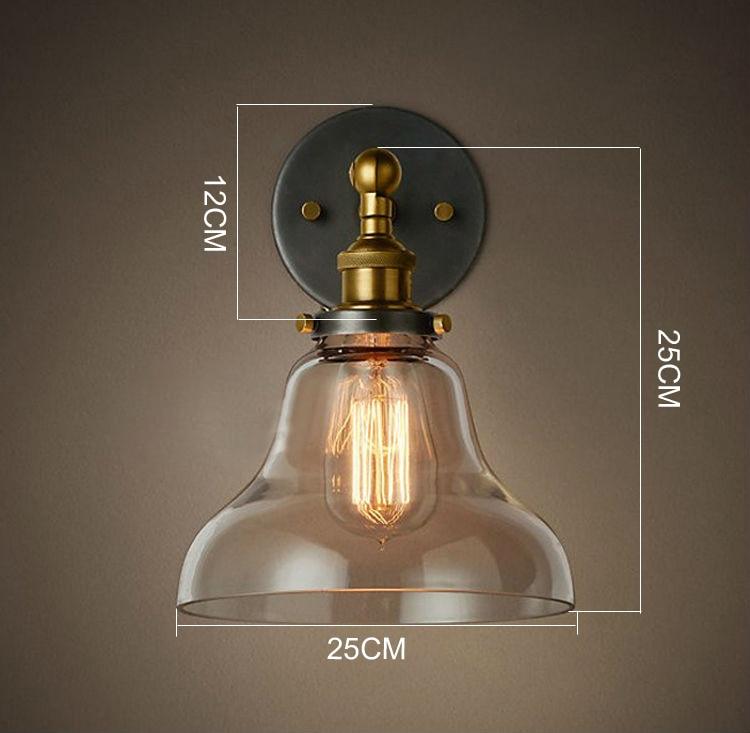 Döşənən şüşə divar lampaları Tənzimlənən E27 110V 220V - Daxili işıqlandırma - Fotoqrafiya 6