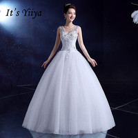 Free Shipping Flower O Neck Lace Sequins Wedding Dresses White Red Princess Bride Gowns Real Photo
