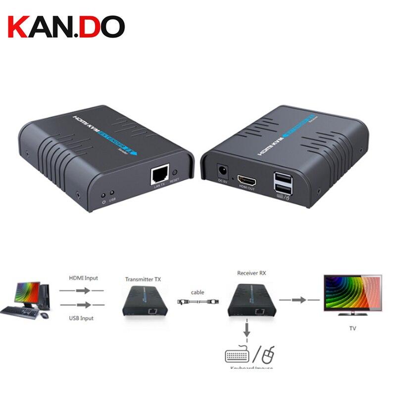373kvm USB HDMI удлинитель по одной cat 5/5e/6/7 кабель Ethernet сигнала расширения до до 120 м/365ft поддержка USB клавиатуры Мышь