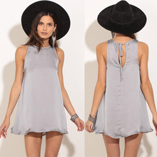 Summer Rayon dress Back lace-up women brief plus size women clothing beach dress brand new sexy smooth Soft vestidos