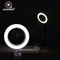 64 Beads LED Mini Ring Light With Ball Head Set Sepless Dimming for Phone Live Show/ Beauty Makeup Photography Video Studio