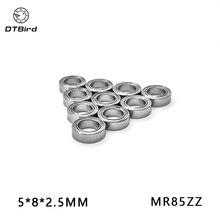 10 шт. MR85 MR85Z MR85ZZ 5x8x2,5 мм 675 675Z экранированные миниатюрные глубокие шарикоподшипники однорядные L-850ZZ 5*8*2,5 мм