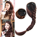 60g Women Girl Braids hair bands oblique bangs fringe Clip In hair extension Hairpiece For Human