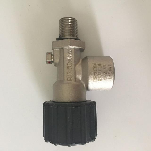 Good Price KHF-30 4500psi Air Cylinder Valve Thread M18*1.5 Carbon Fiber Cylinder Valve for PCP Rifle