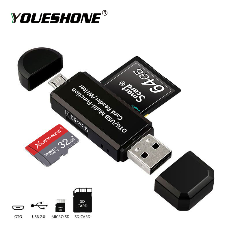 Image 5 - RSExplorer OTG Card Reader Adapter High speed USB 2.0 Flash Drive Universal OTG TF/SD Card Reader for Android phone Computer-in Card Readers from Computer & Office