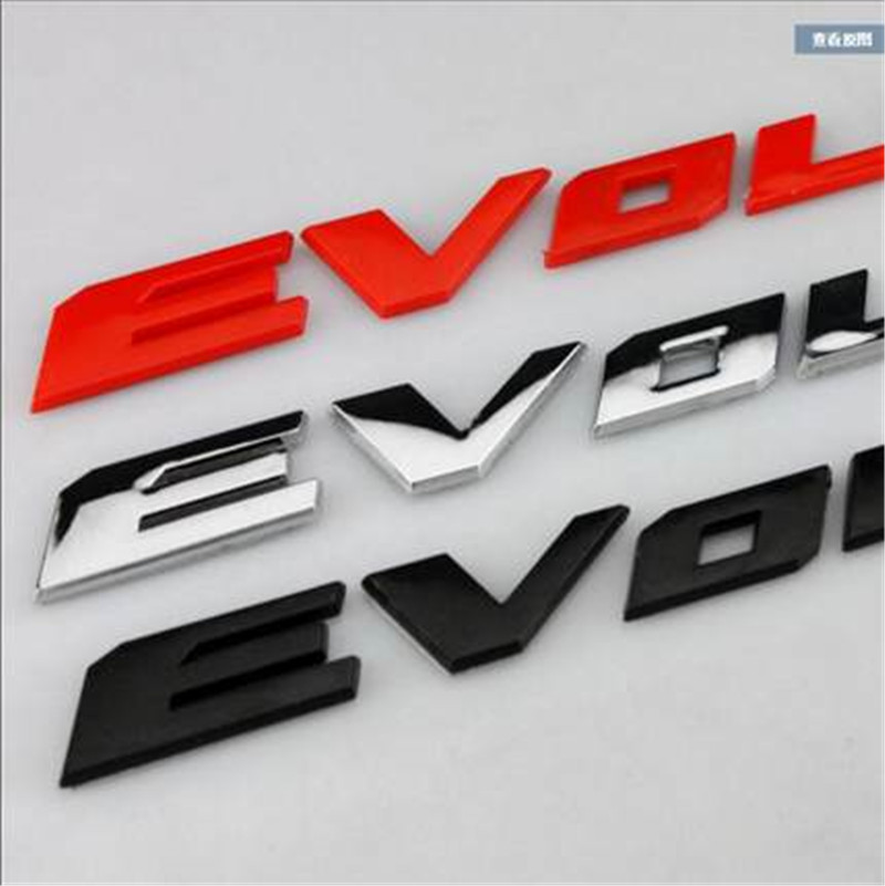Car sticker emblems for Mitsubishi lancer X logo tail sticker