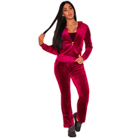 Women 2Pcs Set Tracksuits Velvet Slim Sweatshirt Tops Jogger Pant Sportswear Fitness Plus Size Coat Jacket Spring Zipper Hoodies