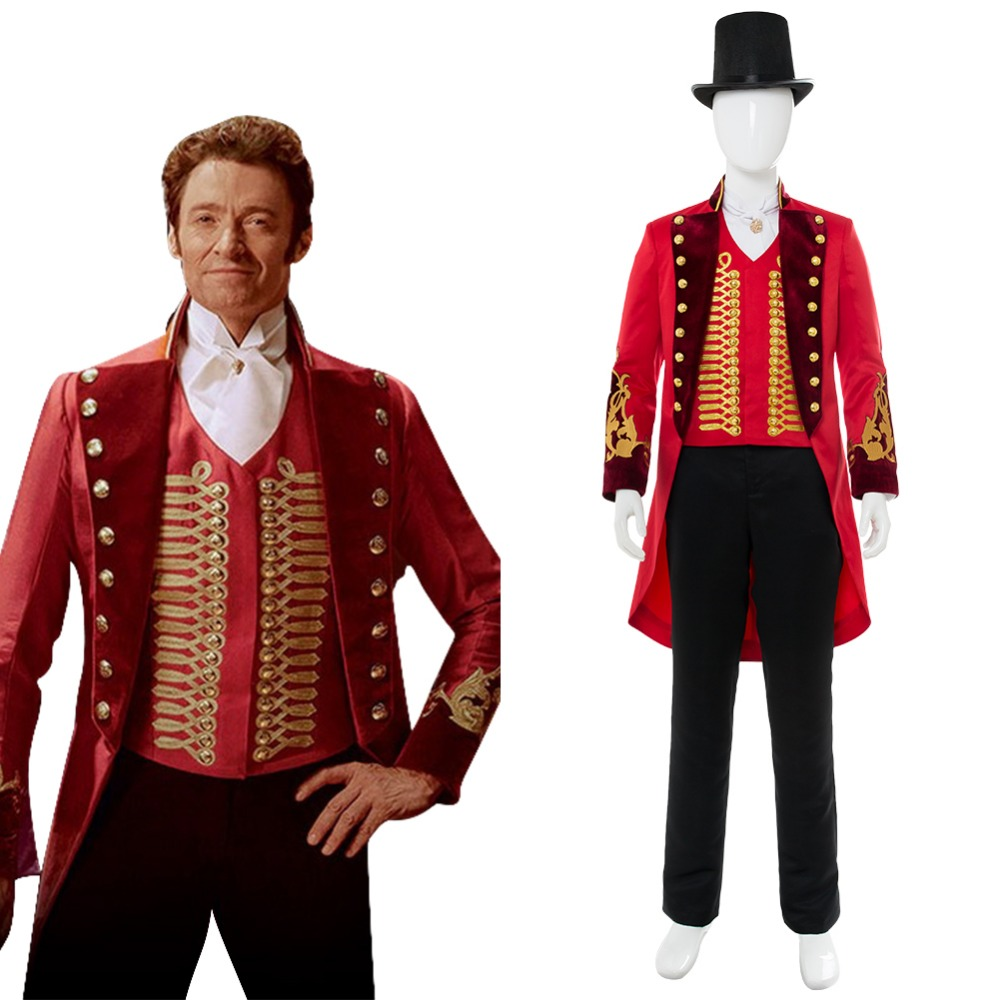 Hot Movie The Greatest Showman P.T. Barnum Cospaly Costume Adutl Men Full Sets Uniform Halloween Carnival Cosplay Costume