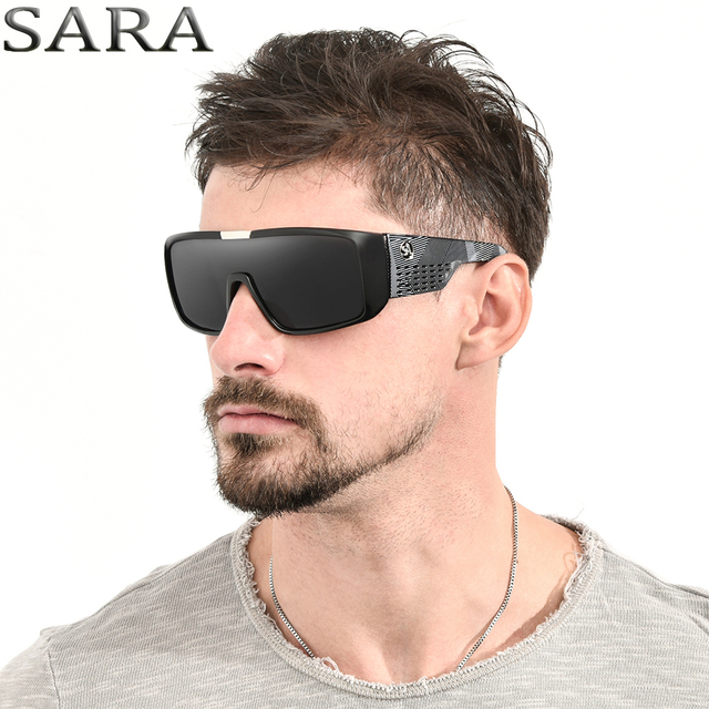 bdc8f0d955 SARA Brand Fashion Sunglasses Men Dragon Sport Goggle Mens Sun Glasses  Women Designer Windproof Shield Plastic Frame UV400 Lens
