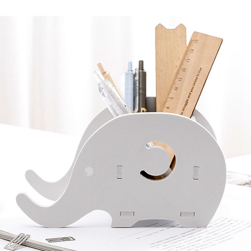1pcs Modern Minimalist Desktop Storage Box Pencil Case Elephant Whale Style Pen Holder