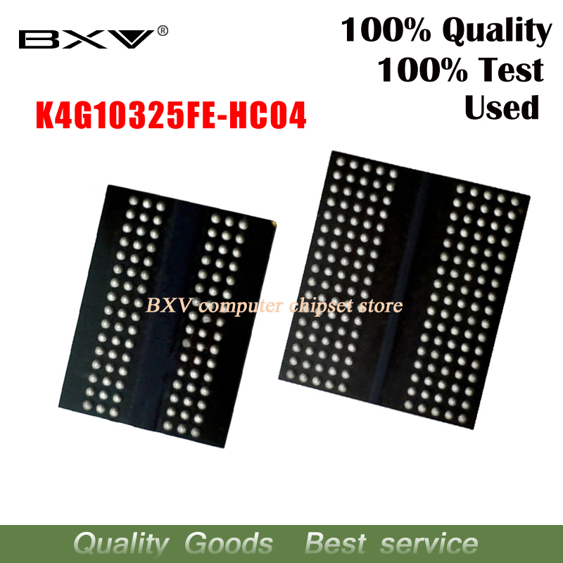 4pcs 100% Test Very Good Product K4G10325FE-HC04 K4G10325FE HC04 Bga Chip Reball With Balls IC Chips