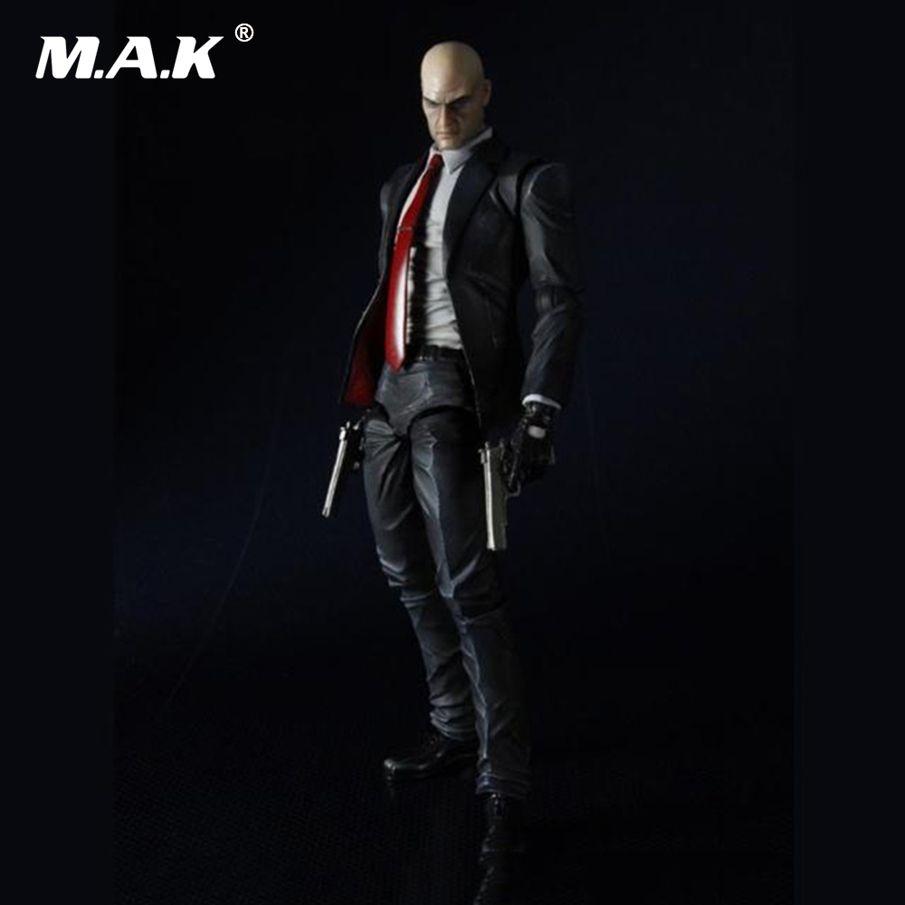 23CM PVC Hitman Agent 47 Action Figures with Movable Joints Dolls Toys for Children Gifts Collections Brinquedos стоимость