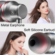 Headphones For Xiaomi Samsung Phone Stereo Bass Headset Metal Wired With Mic