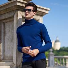 Sweater Men 2017 Brand Pullovers Casual Sweater Male High Collar Solid Simple Slim Fit Knitting Mens Sweaters Man Pullover Men