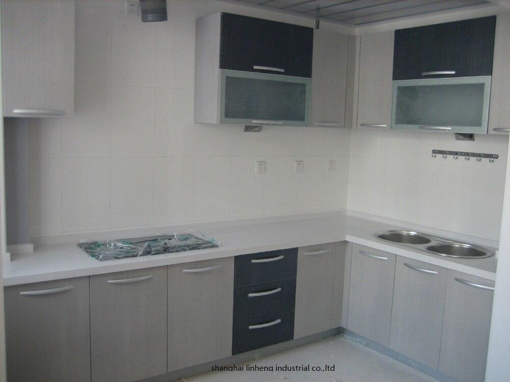 Melamine/mfc Kitchen Cabinets(LH-ME025)