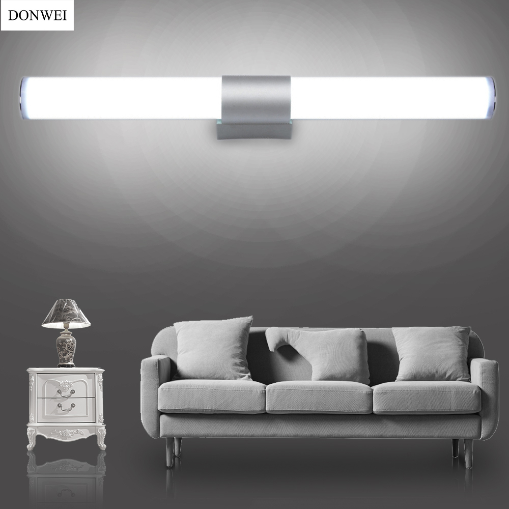 DONWEI Simple style 12W 16W 22W LED Bar Wall Light Makeup Mirror Lights Indoor Bathroom Dressing room Kitchen Decor Wall Lamp