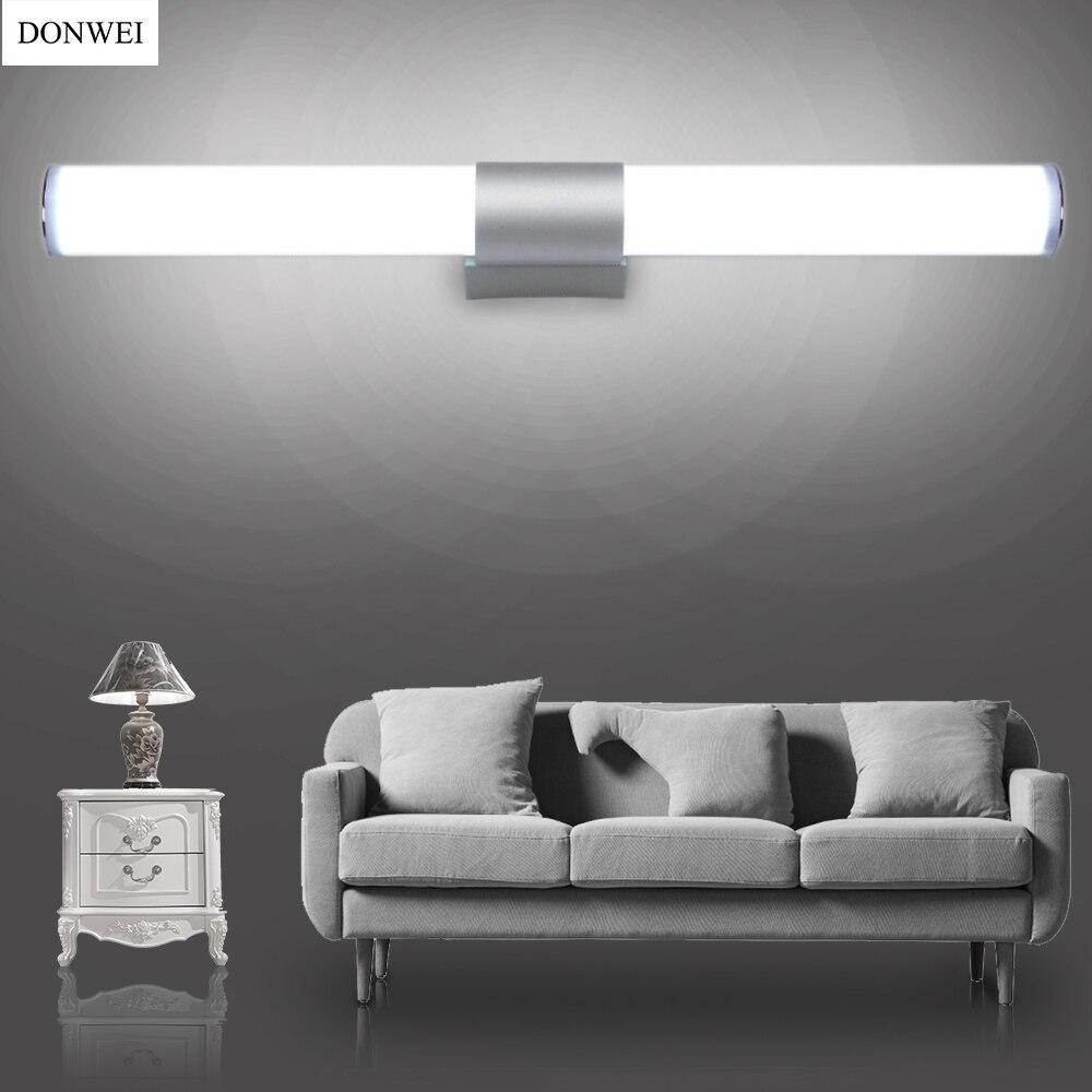 Donwei простой стиль 12 Вт 16 Вт 22 Вт LED бар настенный светильник Макияж зеркало с подсветкой indoor Ванная комната Гардеробная украшения для кухни настенный светильник