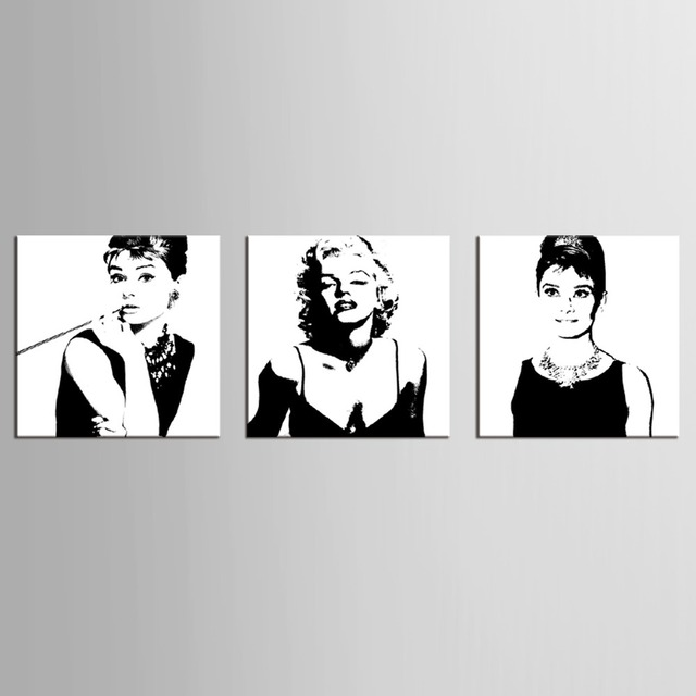 3 Panel Vintage Poster Portrait Oil Painting Canvas Wall Art Picture ...