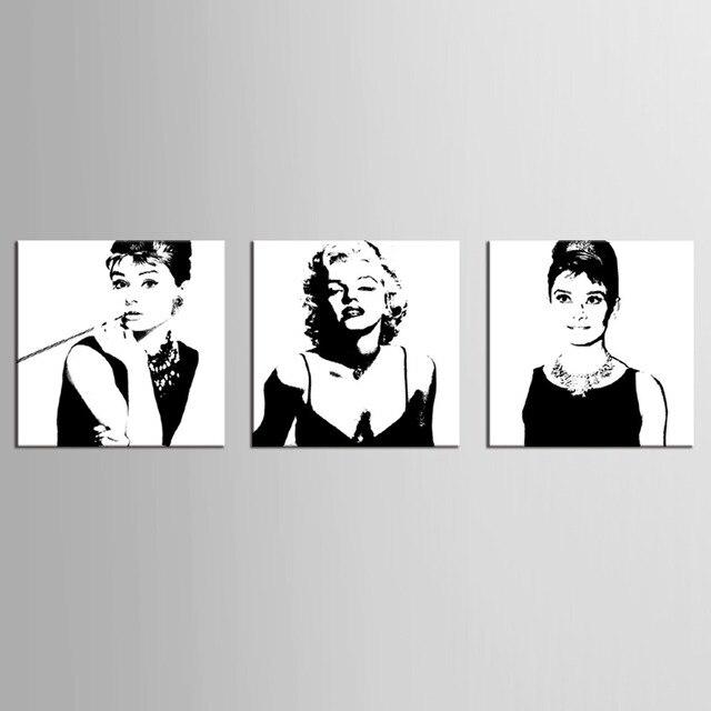 3 Panel Vintage Poster Portrait ölgemälde Leinwand Wand Kunst Bild