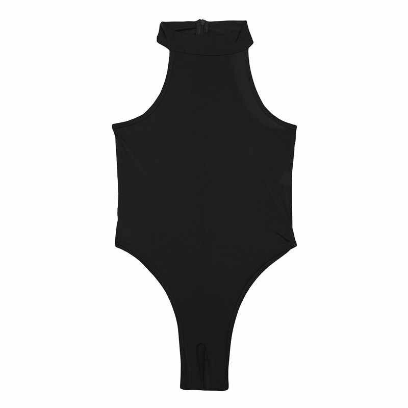 TiaoBug Vrouwen Een stuk Lingerie Mouwloze Hoge Cut Crotchless Transparant Hot Sexy Bodysuit Volwassen Open Kruis Erotische Teddybeer