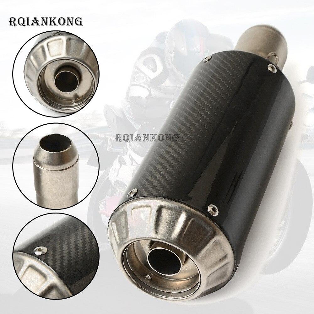 Universel 36-51mm modifié scooter moto pot d'échappement silencieux pour YAMAHA TMAX/T-MAX500 530 MT07 MT09 R3 R6 R25 R1 YZF R1 R6