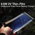 0.5 W 2 V Thin-Film Solar Flexível Painel Peel & Vara Carregador de Bateria Celular À Prova D' Água Venda Drop Shipping