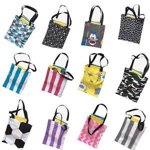 Wholesale Large Reusable Grocery Women Tote Bag Eco Big Foldable Storage Bags Beige Canvas Cotton Ecobag 36*40cm Storage bags(China)