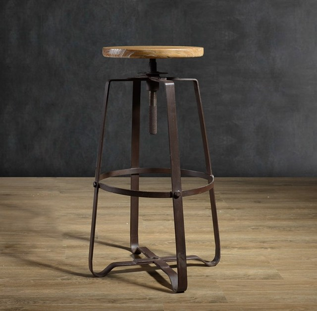 American Iron Bar Stool To Do The Old Style Upscale Hotel Ktv Lift