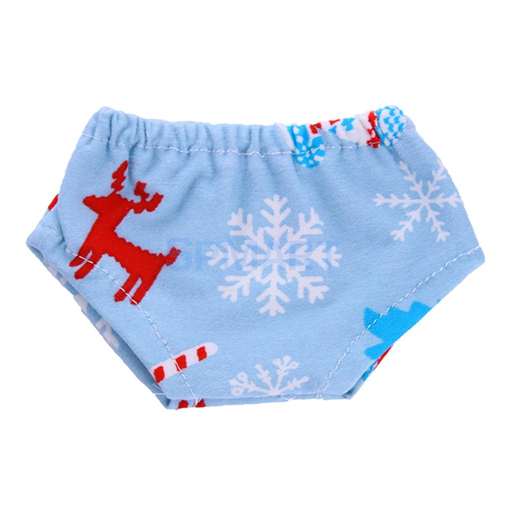 Lovely Blue Xmas Theme Printed Underwear Underpants Clothes Outfit for 18 American Girl Doll or 43cm Zapf Baby Born Dolls